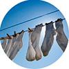 Носки просто сортировать после стирки - они все одинаковые!
