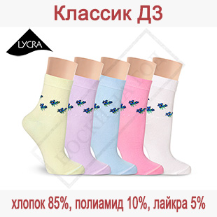 Женские носки из хлопка Классик Д3
